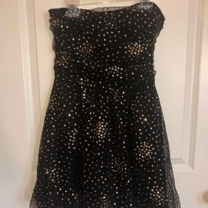 Black & gold sparkly party dress